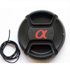 "49mm Lens Cap Snap-on for Sony Alpha with ""α"" symbol - -UK Stock - Fast Delivery"