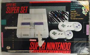 Super Nintendo Entertainment System SNES Super Set Authentic Console BOX ONLY