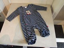 Jasper Conran Baby Boy 3-6 m  Months Gorgeous Blue Velvet Soft Baby Grow