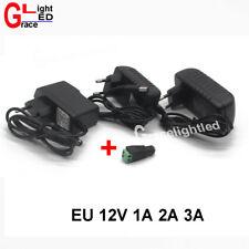 EU/US AC100-240V To DC 12V 1A 2A  3A Power Supply Adapter  for led strip light