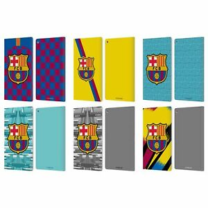 OFFICIAL FC BARCELONA 2019/20 CREST KIT LEATHER BOOK WALLET CASE FOR AMAZON FIRE