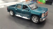 2014 Chevrolet Silverado Vert Kinsmart Jouet Miniature 1/46 Echelle Voiture
