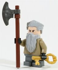 LEGO HOBBIT OLD DWARF MINIFIGURE DWARVES & AXE - MADE OF GENUINE LEGO PARTS