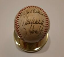 1995 Atlanta Braves Team Signed Practice Baseball Chipper, Cox, Smoltz, Glavine