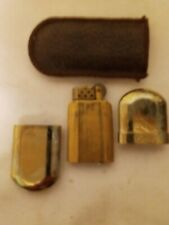 Vintage Marlboro No. 6 Brass Refillable Flint Lighter with Pouch