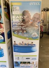 "New listing Intex 15' x 48"" Easy Set Swimming Pool Kit w/ Filter Pump 26167Eh New"