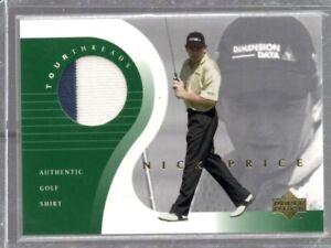 2001 Upper Deck Tour Threads Nick Price Authentic Golf Shirt