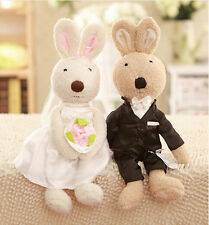 plush toy stuffed doll lover Le sucre rabbit wedding dress couple bunny 1 pair