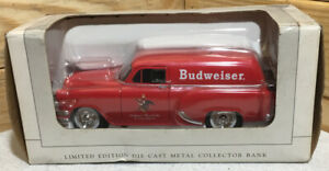 SpecCast 1954 Chevrolet Delivery Budweiser Die Cast Collector's Bank Rare NIB