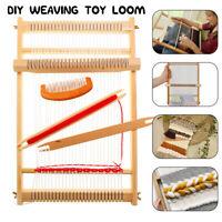 Wooden Weaving Loom Machine Play Toy Kids Girl DIY Knitting Craft Combs Ball Kit