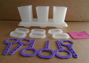 Tupperware Popsicle Ice Tups Set Molds plus Tray #481 R20  sa