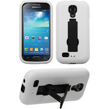 Wht Blk 2-Layer V Stand Case SAMSUNG L520 i435 i257 R890 S890 Galaxy S 4 S4 Mini