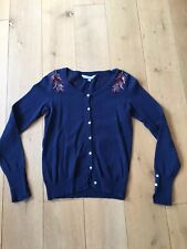 Crew Womens Cardigan Navy Size 6 Sequins Knitted Ladies Cardi