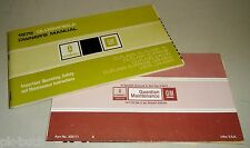Bordmappe mit Betriebsanleitung / Owner's Manual Oldsmobile Cutlass 1975