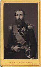 Roi Léopold II par Deron Bruxelles Belgique cdv Vintage photoglyptie
