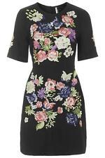 Topshop Floral Women's Round Neck Dresses