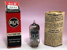 1 x 1953 RCA 12AX7 Tube. Black Plates, Slanted D Getter  [A1]