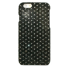 Clear Dots Made with Black Swarovski Crystal Shiny Gem Bead Bling Case Galaxy S8