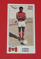 N°235 ANDRE KABILE OLYMPIQUE NIMES CROCOS PANINI FOOTBALL 77 1976-1977