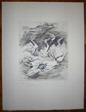 De Coster Germaine gravure signée numérotée art abstrait abstraction lyrique