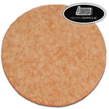Round Long Life Carpet Floor Serenade Orange Large Sizes! Rugs On Dimensions
