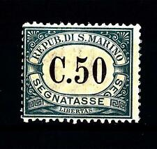 SAN MARINO - Segnatasse - 1897 - Cifra in cornice ovale - 50 c. - Postage Due St