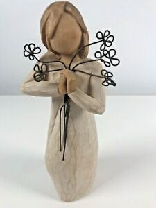 Willow Tree Angel Of Friendship Girl Holding Flowers Ornament Figurine