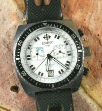 Zodiac Seadragon Chronograph ZO2285 -Runs- being sold as Parts or Repairs ref.#1