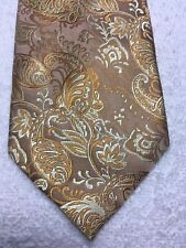 EMILIO PONTI MENS TIE GOLD AND YELLOW 4 X 61 NWOT