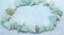 Natural Genuine Blue Jade  Amazonite Crystal Gemstone Bracelet Reiki Blessed