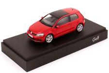 VW GOLF 7 VII GT TSI TDI HIGHLINE 3 DR TORNADO RED 1:43 HERPA (OEM DEALER MODEL)