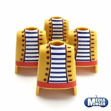 Playmobil ® 4 x superior del cuerpo amarillo   rojo   a rayas   piratas   Western   españoles