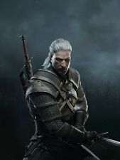 POSTER THE WITCHER 2 3 WILD HUNT WOLF LUPO GERALT OF RIVIA VIDEOGAME FANTASY #11