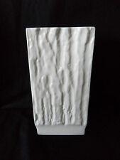 Sehr dekorative Design Porzellan Vase Sgrafo Modern 60er-70er Jahre 19cm (A733)