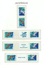 Australia 1998-SNP Sprint Roll-año Del Océano + Etiquetas-Mint estampillada sin montar o nunca montada