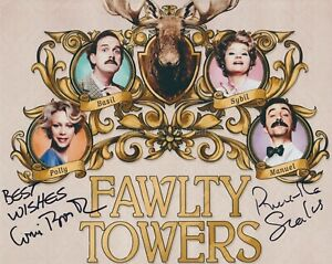 Prunella Scales & Connie Booth Hand Signed 8x10 Photo, Autograph Fawlty Towers E