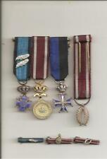 4 x Mini medaille + 3 x revers medaille