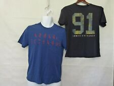 Lot of 2 pcs Graphic Men's T-shirt Armani Exchange Size S Small: Blue and Navy