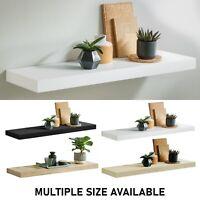 Gloss Floating Shelves Wall Storage Wooden Shelf Bookcase Display Home Unit UK