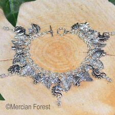 Unicorn Forest Charm Bracelet - Pagan Jewellery, Wicca, Witch, Magic, Mushroom