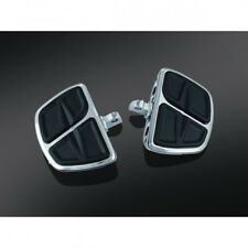 Kinetic mini boards with male mount adapters chrome - Kuryakyn 7610