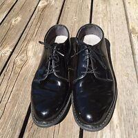 Bates Mens Shoes size 10.5 D Vibram Sole High Gloss Military Oxfords Uniform