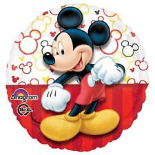 Mickey Mouse Red Stripes Round Foil Mylar Balloon 1 Ct Birthday Party Supplies