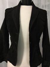 Ann Taylor Loft Womens Jacket Petites Brown Stretch Flap Pocket Corduroy Size 0P