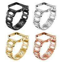 Metal Alloy Rhinestone Watch Band Bracelet Wrist Strap+Frame for Fitbit Blaze