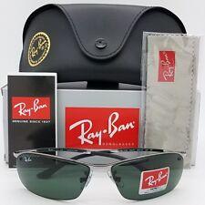 NEW Rayban Sunglasses RB3183 004/71 Gunmetal Grey Green Top Bar 3183 AUTHENTIC