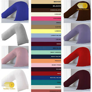 Orthopaedic V Shaped Pillow Support For Head Neck And Back With FREE Pillow Case