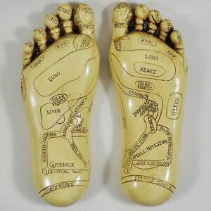 Pair of Reflexology Feet Diagram Holistic Therapy Decor Alternative Therapy Xmas