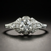 Vintage 925 Silver Moissanite Wedding Engagement Ring Jewelry Wholesale Sz 6-10