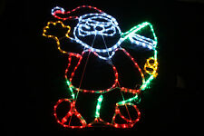 SANTA SURFING BIG 110 X 90 CM LED Outdoor Christmas Garden Rope Light XMAS
